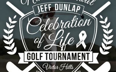 "The 9th Annual Jeff Dunlap ""Celebration of Life"" Golf Tournament hosted by Hearts of ALS NY is a 4-man scramble at Victor Hills Golf Course in Rochester, New York on July 21, 2014"