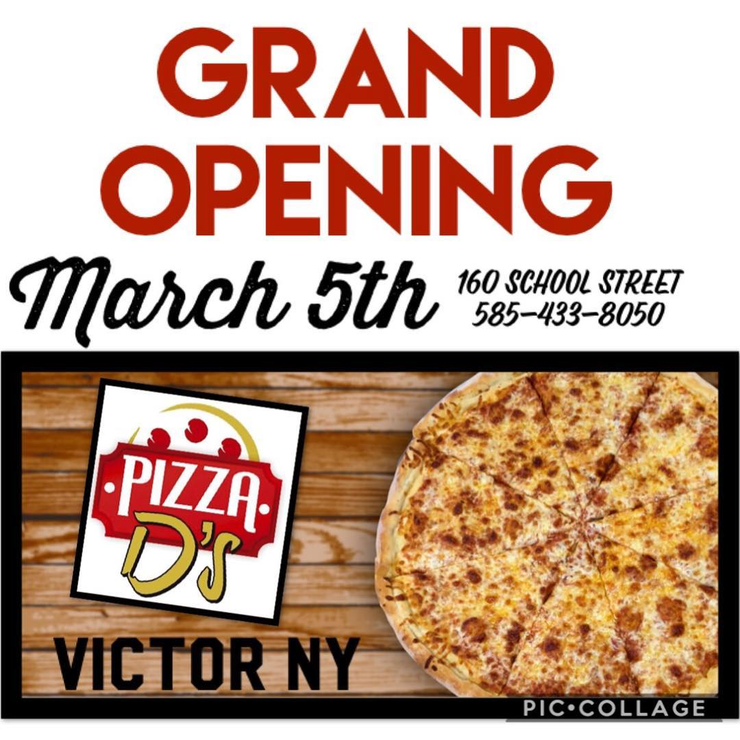 Pizza D's Victor Open Now! | Pizza D's Pizzeria in Rochester (Mendon and Victor), NY