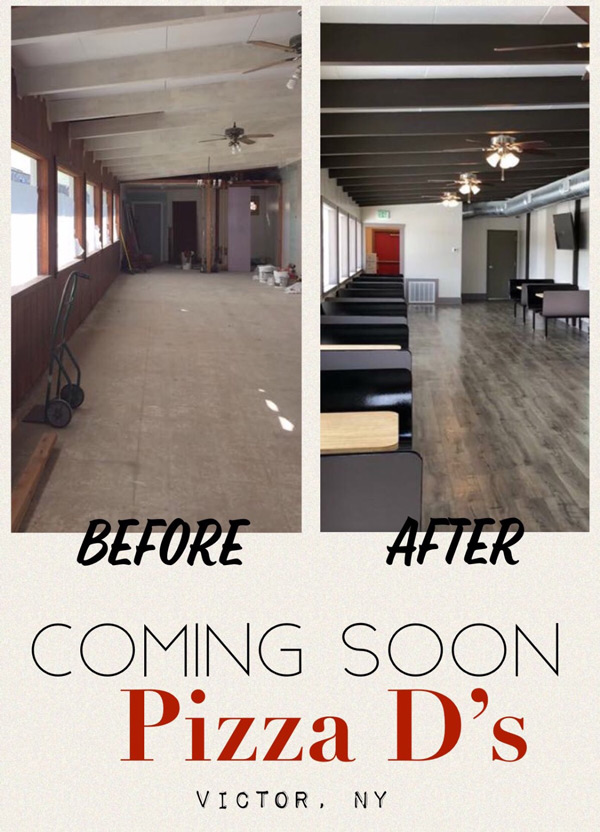 Victor location is getting close! | Pizza D's Pizzeria in Rochester (Mendon and Victor), NY