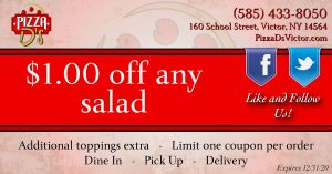 $1.00 Off Any Salad (Victor)