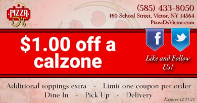 $1.00 Off a Calzone (Victor)