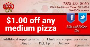 $1.00 Off Any Medium Pizza (Victor)