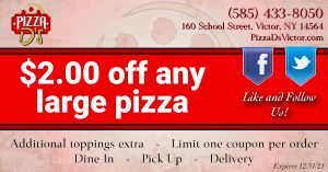 $2.00 Off Any Large Pizza (Victor)